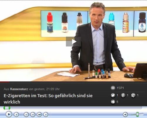 Schweizer Fernsehen testet Gefährlichkeit der E-Zigs